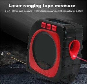 Misurare calibro laser Strumento modalità Finder 3-in-1 misura di nastro digitale a infrarossi Rotolo multi-funzione Range Meter Distanza Cord hJ2009 DGiSe
