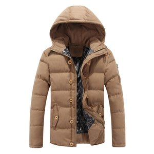 Fashion Jacket Man 2020 New Style Casual Coat Thick Warm Winter Outwear Coat Male Slim Cotton Mens Parka Mens Hooded Jacket