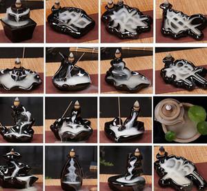 Céramique Porte-Glaze Cascade refoulements brûleur d'encens encensoir décor Cônes Accueil 24 style Cônes d'encens brûleur bâton KKA8036