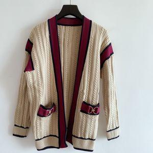 Suéter manga larga de las mujeres delgadas del otoño Outwear los suéteres ropa suéter de la mujer la calidad del tejido Desinger Marca Cárdigan de punto de las mujeres
