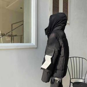 2020 homens para baixo da marca jaqueta jaquetas casuais americanos bordados estilo de letra de impressão Mid-comprimento de duas cores à prova de vento aquecer asiático tamanho jaqueta