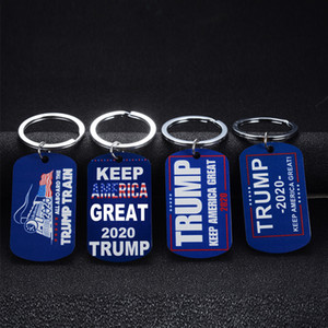 Trump 2020 Keep America Great Stainless Steel Keychain Donald Trump For President USA Keyring Car Key Chain Men Women Gift