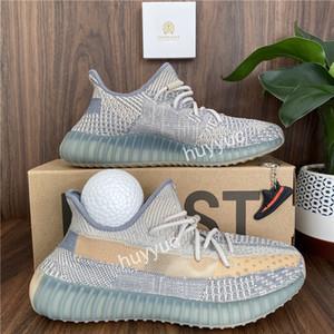 Üst Kalite 2020 Kanye West 3M Siyah Statik Yansıtıcı Ayakkabı Curuflu İsrafil Toprak Kuyruk Işık Zebra Womens Tasarımcı Sneakers Koşu