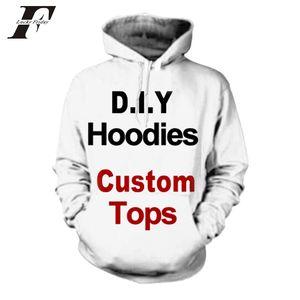 2020 Пользовательские Hoodie 3D печати Diy Настраиваемый дизайн Kpop одежда Hip Hop Толстовка Толстовки Поставщики для падения грузоотправителя Plus Size