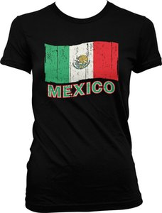 Mexiko Flagge beunruhigt Mexican National Pride Frauen-T-Shirt