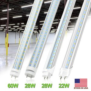 4ft LED Bulb Light 4 Feet LED Tube 28W 60W T8 Fluorescent Light 6000K Cold White Factory Wholesale 60W V-Shaped led shop light