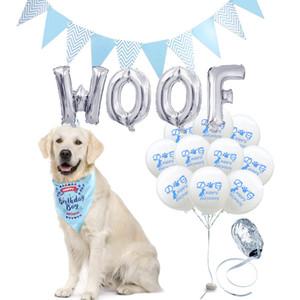 de aniversário do cão balões globos cão acessórios carta balão WOOF produtos para animais safari chapéu de aniversário festa subiu fontes do partido de ouro