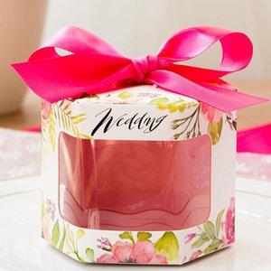 Broche caramelo de la fiesta fresca Hueco-hacia fuera la caja de regalo floral de la boda de la cinta del color puro juega al por mayor más vendido plegable de papel caja de regalo