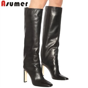 ASUMER 2020 plus size 43 over the knee thigh high boots women solid colors high heels party wedding shoes woman long boots T200425