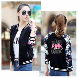 New BlackPink Baseball Jacket Kpop BlackPink veste de baseball LISA JENNIE Jisoo Lettre imprimer Eventails Vêtements K- Manteaux sX6M #