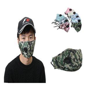 Baumwolle Maske mit Ventil Waschbar Wiederverwendbare Facemask High Fashion Gesichtsmaske Anti Pollution-Antistaub-Einzelpaket Schnelle Lieferung DHE501