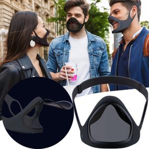 Защитная маска Щит пластиковый экран анфас Съемная зеркало для губ маска Анти-туман защитная маска щит с очки OOA9012
