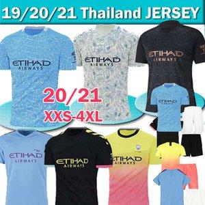 2020 2021 FC ville maillot de football manchester 20 21 G. JESUS DE Mahrez BRUYNE KUN AGUERO football chemises MENDY uniformes MAN hommes + kids thaïlandais kit