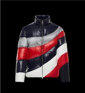 Nouveau 2021 Hommes Down Jacket Col rayé de canard chaud blanc marée manteau de duvet vêtements pour hommes de loisirs courts