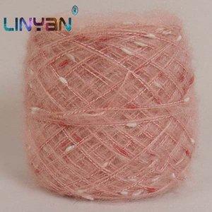 500g / lot mano de ganchillo hilo hilado de lana de tejer barato Nódulo mohair rayón hilado mezclado para tejer bufanda sombrero ZL6211 hilo escudo