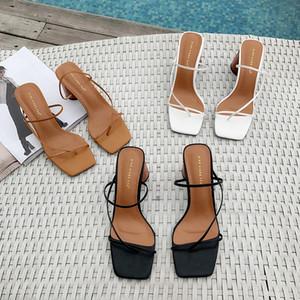 Toppies 2020 sandálias de verão mulheres sapatos de salto alto chinelos elegantes senhoras chinelos de dedo aberto