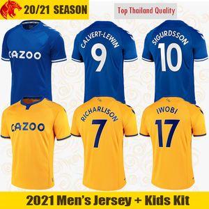 20 21 Everton maillots de football CALVERT-LEWIN KEAN 2020 2021 SIGURDSSON RICHARLISON maillots de football maillot TOSUN BERNARD