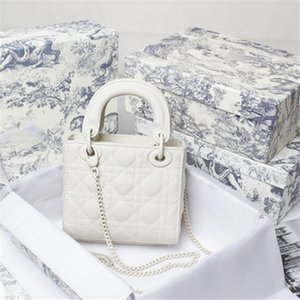 designer must-have lady's elegant chain bags brand shoulder diamond lattice handbags genuine real leather sheepkin crossbody bag