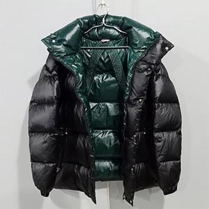 2019 NOVO Mens Designer Jaquetões marca de luxo Brasão de Down Fahion Designer Brasão cor sólida Grosso do revestimento dos homens designer de jaqueta de inverno