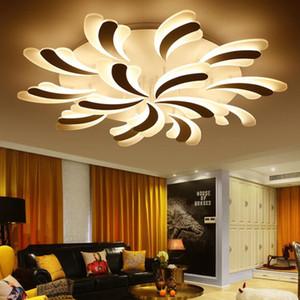LED Flower Modern teto luzes por Quarto Sala Início lâmpada do teto Acrílico LED de alumínio Corpo de teto Iluminação de interior