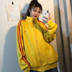 YOCALOR Korean Spring Autumn Coat female Sweatshirt Sport Suit Women Harajuku Kpop Streetwear Punk Tracksuit Ins Loose Bf Zipper