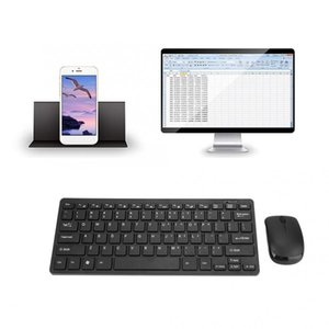 2'nin .4g Mini Kablosuz Klavye ve Optik Mouse Seti İçin Masaüstü Dizüstü Akıllı Tv Klavye Membran