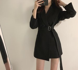 2020 Sale Full Trench Coat South Korea Spring And Autumn New Complex Ancient Korean Casual Loose Mid-length Suit Women