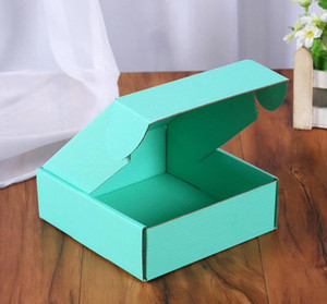 Corrugated Paper Boxes Colored Gift Packaging Folding Box Square Packing BoxJewelry Packing Cardboard Boxes 15*15*5cm