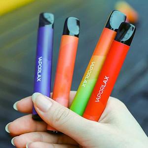 100 % 정통 Vaporlax 메이트 일회용 장치 사전 채워진 3ml 카트리지 포드 500mAh 배터리 800 퍼프 vape 빈 펜 바 바 플러스 vape 펜