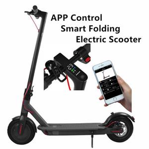Almanya Stok Bluetooth Smart APP Kontrol Katlama Elektrikli Scooter 8.5 İnç Lastik Ebike Alüminyum Alaşım 2 Tekerlek Elektrikli Bisiklet Scooter