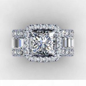 2020 Court amantes do vintage anel de diamante 3CT 925 anel de prata esterlina anel de casamento noivado por mulheres homens Dedo Jóias presente