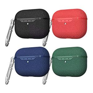 Cover in pelle Litchi Texture TPU per AirPods 1 2 3 Pro Portable di protezione della copertura del sacchetto per auricolare Bluetooth
