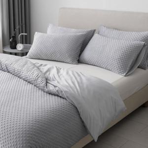 Постельные комплекты вата шерсть зимний набор с теплыми пододеяльниками чехлы пузырьковый флис постельное белье постельное белье