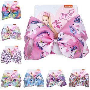 INS Big Bow Cartoon Hairpin filles Barrettes Jojo Siwa bowknot Glitter Barrettes enfants Enfants Barrettes Bows Cheveux Accessoires D82803