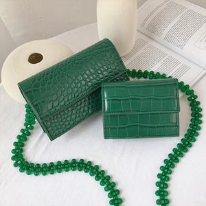 Mini Stone Flap Small Square Bag 2020 Summer New High Quality PU Leather Womens Designer Handbag Beaded Shoulder Crossbody Bag