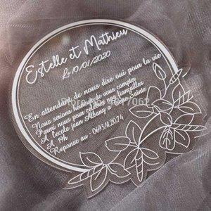 Custom acrylic wedding invitation, custom color acrylic invitation, transparent please