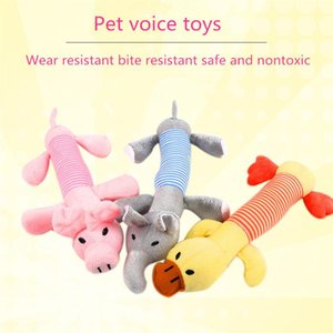 Plush Pet Dog Toy Chew Squeak Toys For Dogs Supplies Fit for All Puppy Pet Sound Toy Cute Elephant Duck Pig Plush Toys For Pets