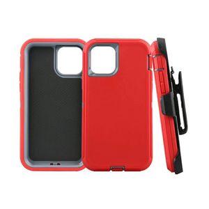 Para iPhone 12 Pro X / X Max XR 7 8 Plus Samsung S20 híbrido Robot CrashProof impermeable Defender Case W / clip de la correa de envío Max gratuito