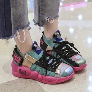 2020 Мода лето женщина кроссовки осень Коренастый женщин кроссовки женщин платформы кроссовки обувь Холст обувь Плюс Размер 41 42