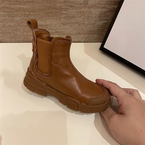 Famous brand Children Boots Casual Autumn Winter Leather School Boy Shoes Fashion In Snow Boots 2020 NEW Kids girls Martin Boots