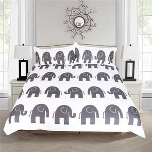 Bedding Sets Home Decor US Size Set Duvet Cover Pillocase 3D Animal Bed Linens HD Elephant Luxury Soft
