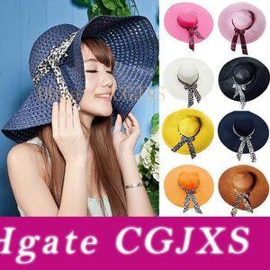 Big Brim Floppy Dobre Chapéu de Sol Chapéus Verão para as mulheres Proteção chapéu de palha Mulheres Praia Hat