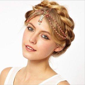 مجوهرات فلاش القوطية الماس لؤلؤة أنيقة أزياء الفرقة الشعر الفرقة الزفاف لؤلؤة الاكسسوارات غطاء الرأس غطاء الرأس الشعر