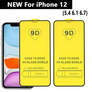 9D la cubierta completa de vidrio templado de la pantalla del teléfono protector para el iPhone 12 11 PRO MAX Iphone SE 2020 XS XR MAX 6 7 8 Plus SAMSUNG A01 A11 A21 A20S