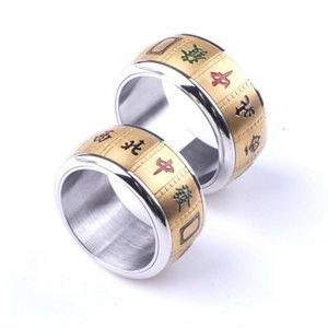 Маджонг вращающегося кольцо для мужчин и женщин 316L титана стал творческими кольцами ювелирных изделий