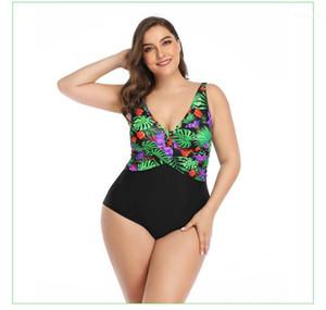 Swim Suit женщин плюс размер купальный костюм конструктора Sexy Printed One Piece Мода женщин Цветочные