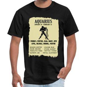 Lustiger Wassermann Stern Gift- Aquarier Beschreibung T-Shirt Kühle homme de marque de luxe Frauen Sternentor T-Shirt s-6xl-stück