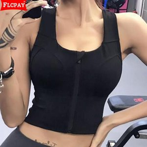 Women's Wirefree Zip Front Bras Longline Cross Back Sports Bra Sport Custom Lift Underwire High Impact Support Padded
