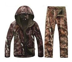 Camouflage Jagd Kleidung Haifischhaut Softshell lurkers bisschen v 4.0 Outdoor-taktische Militärfleecejacke + Uniform Hosenklagen SC081