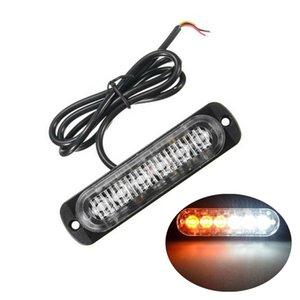 전구 램프 경고 1 배 흰색 노란색 황색 6 LED 슬림 12V 24V 24LED 스트로브 빛 자동차 - 모터 차량 트럭 LED 사이드 마커 램프 점멸